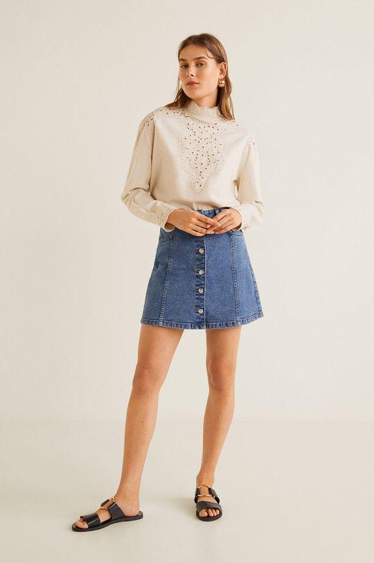 Mango - Fusta jeans Vicky albastru