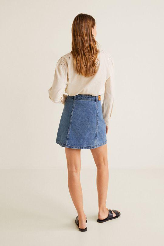 Mango - Fusta jeans Vicky 99% Bumbac, 1% Elastan
