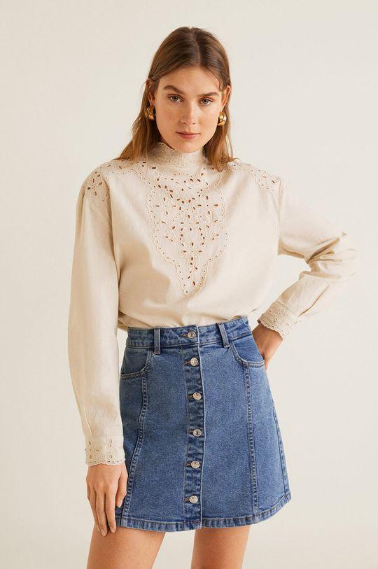 albastru Mango - Fusta jeans Vicky