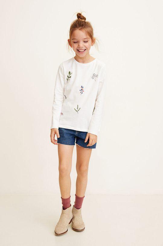 Mango Kids - Pantaloni scurti copii Isabel 104-164 cm albastru