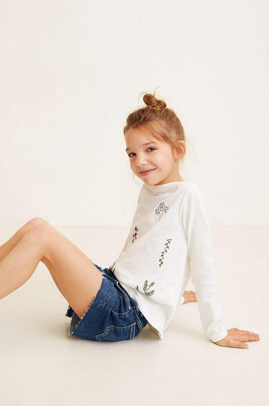 Mango Kids - Pantaloni scurti copii Isabel 104-164 cm 99% Bumbac, 1% Elastan