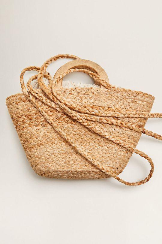 Mango - Poseta Aurelia Captuseala: 100% Bumbac Materialul de baza: 100% Iuta Alte materiale: 100% Lemn