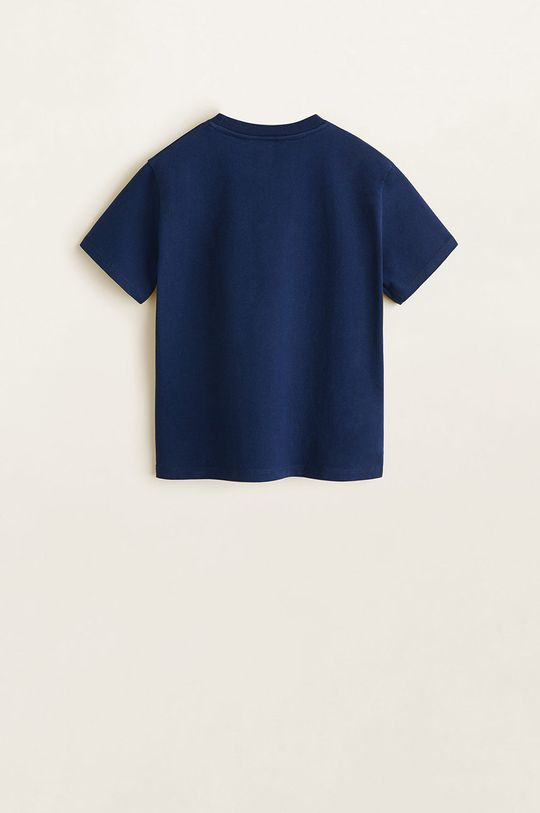 Mango Kids - Tricou copii Aveng 110-152 cm bleumarin