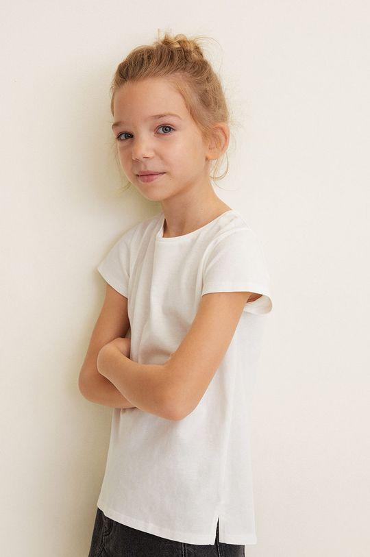 alb Mango Kids - Top copii Baseg4 104-164 cm De fete
