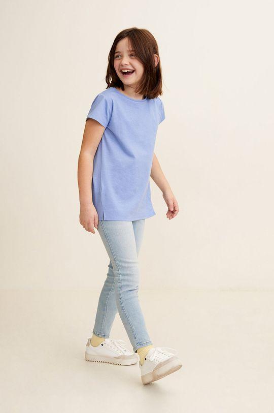 Mango Kids - Top copii Baseg4 104-164 cm albastru pal