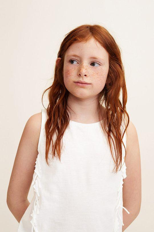 alb Mango Kids - Top copii Fleco 110-164 cm De fete
