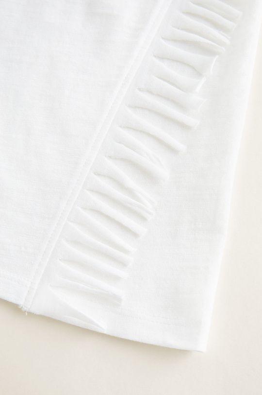 alb Mango Kids - Top copii Fleco 110-164 cm