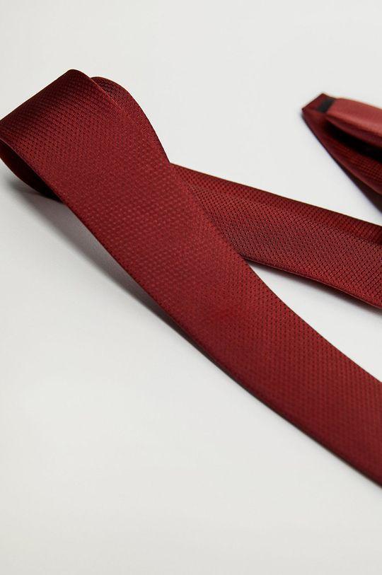 Mango Man - Krawat BASIC5 kasztanowy