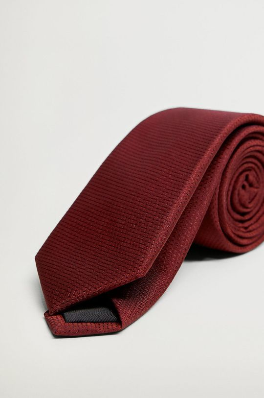 kasztanowy Mango Man - Krawat BASIC5