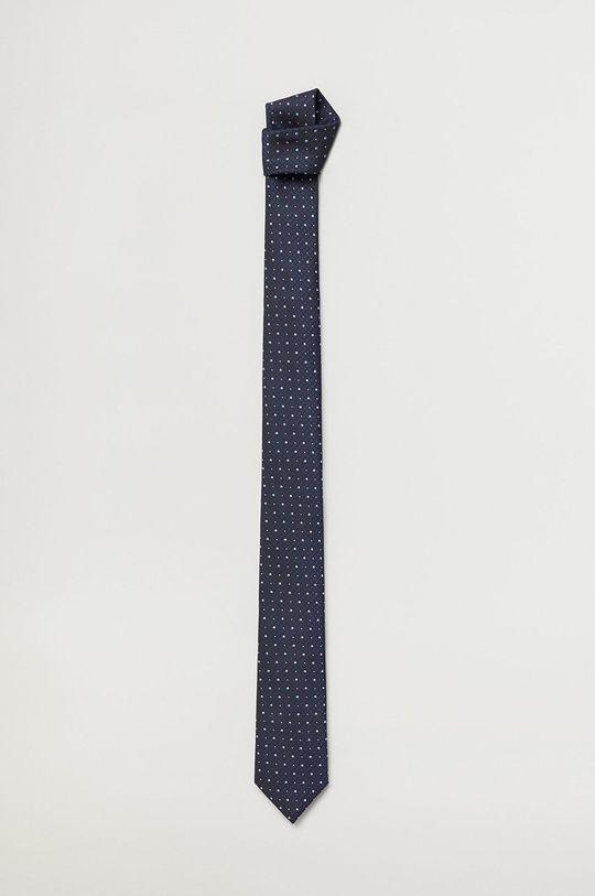 granatowy Mango Man - Krawat MIX5 Męski