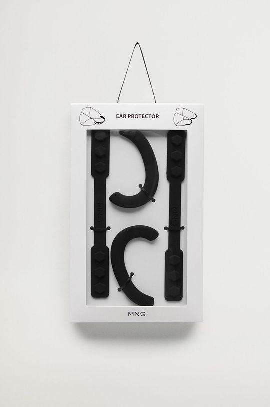 czarny Mango Man - Silikonowe ochraniacze na uszy od maseczki SILICONE