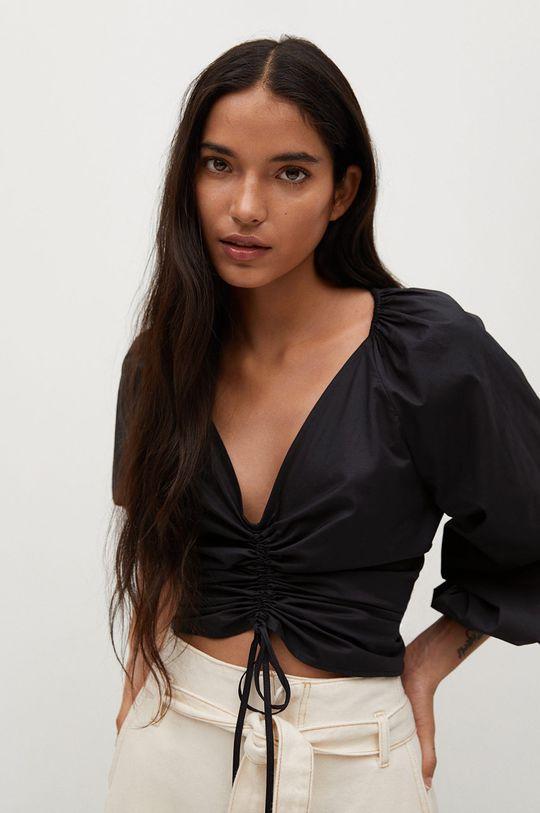 negru Mango - Bluza FLOWER De femei
