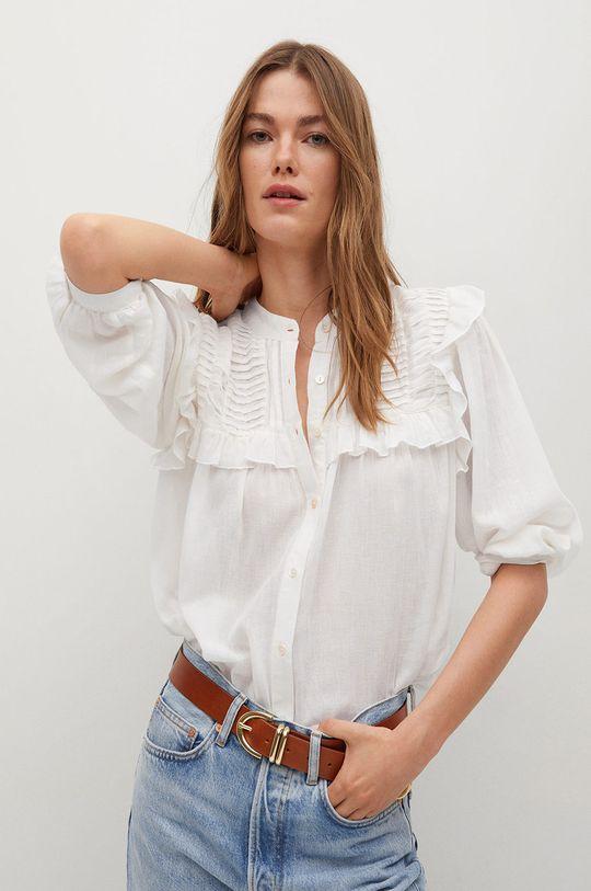bílá Mango - Bavlněné tričko Julieta-I Dámský