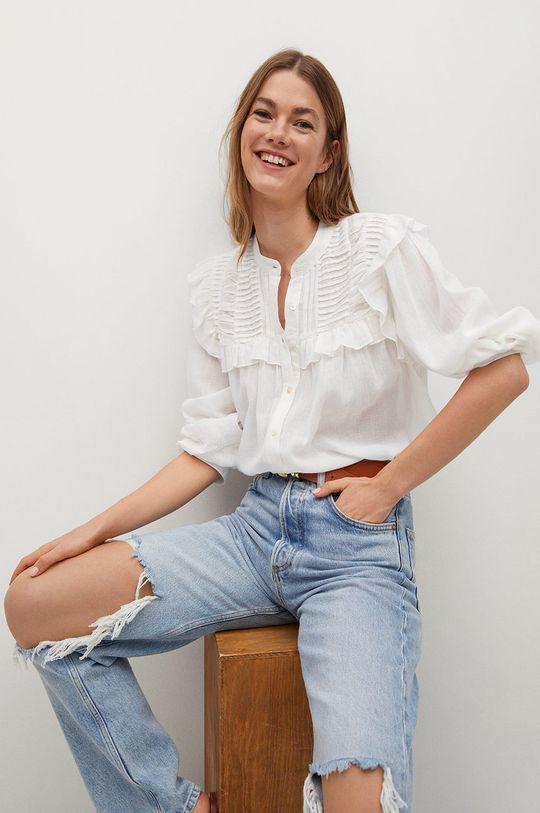 bílá Mango - Bavlněné tričko Julieta-I