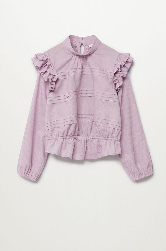 fioletowy Mango Kids - Bluzka bawełniana dziecięca Yvette 116-164 cm