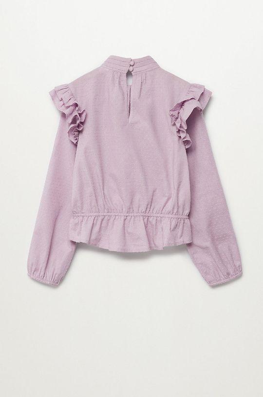 Mango Kids - Bluzka bawełniana dziecięca Yvette 116-164 cm Dziewczęcy
