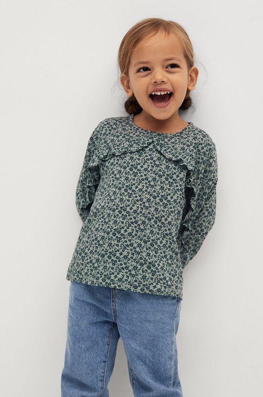 zielony Mango Kids - Bluzka dziecięca CARLA Dziewczęcy