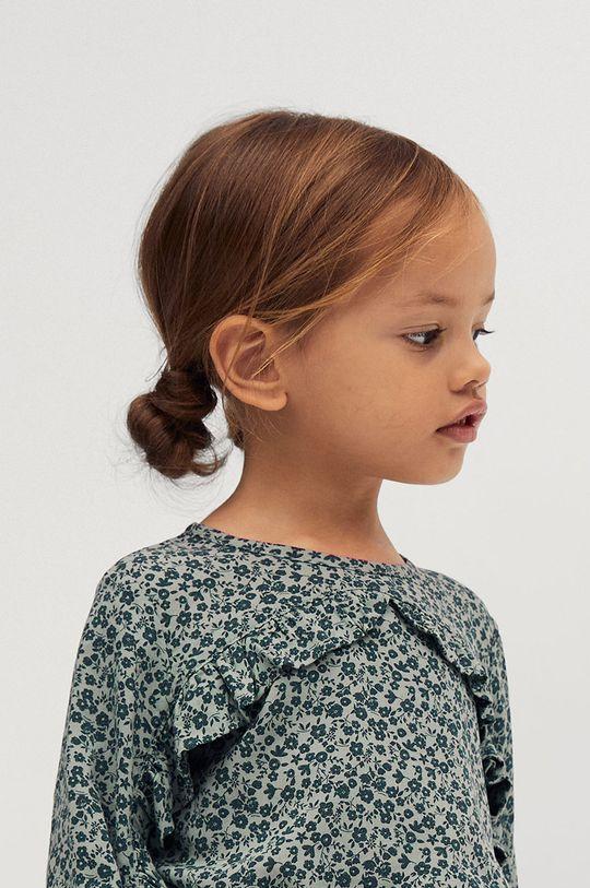 Mango Kids - Bluzka dziecięca CARLA zielony