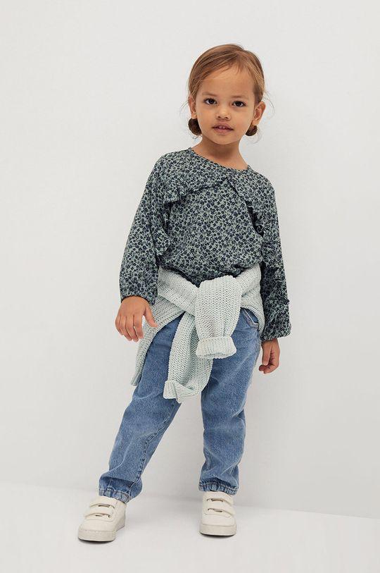 Mango Kids - Bluzka dziecięca CARLA 100 % Wiskoza