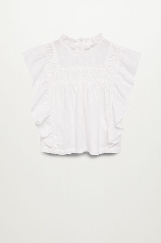 biały Mango Kids - Bluzka dziecięca NINA Dziewczęcy