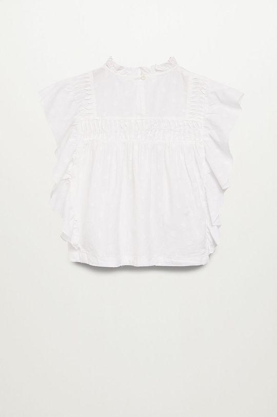 Mango Kids - Bluzka dziecięca NINA biały