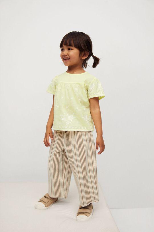Mango Kids - Bluzka bawełniana dziecięca Santas 80-110 cm 100 % Bawełna