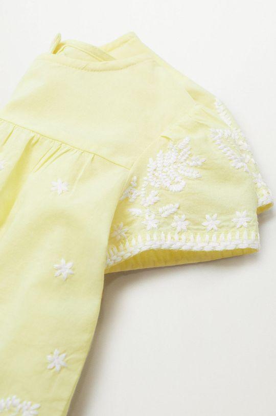 żółty Mango Kids - Bluzka bawełniana dziecięca Santas 80-110 cm