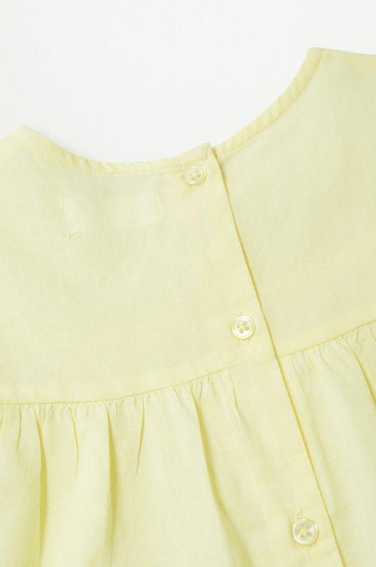 Mango Kids - Bluzka bawełniana dziecięca Santas 80-110 cm Dziewczęcy