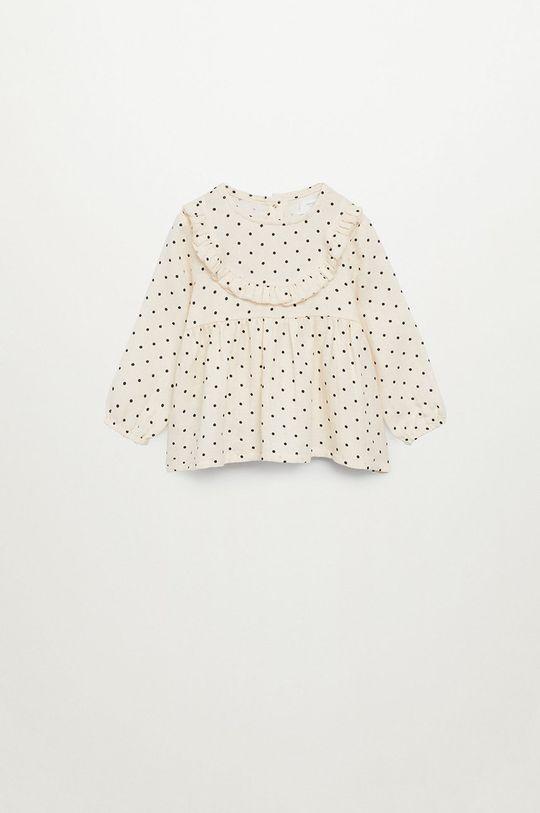 biały Mango Kids - Bluzka dziecięca Topito 80-110 cm Dziewczęcy