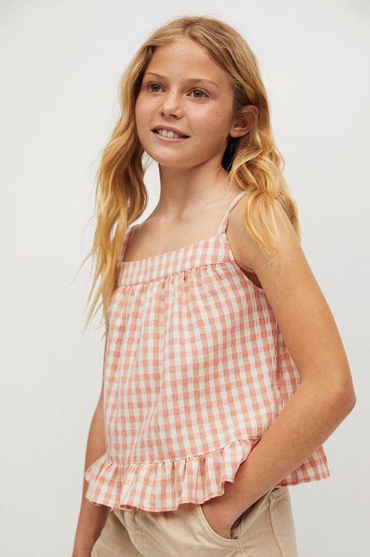 pomarańczowy Mango Kids - Bluzka dziecięca Julia 110-164 cm Dziewczęcy