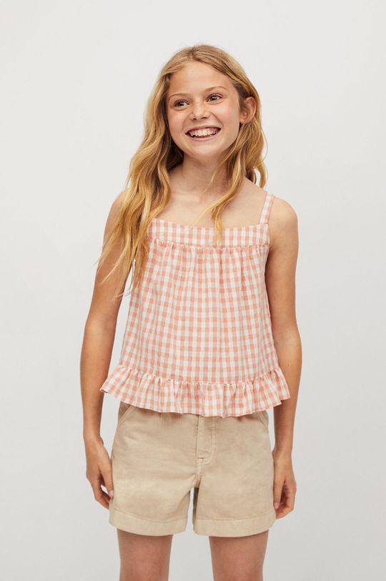 pomarańczowy Mango Kids - Bluzka dziecięca Julia 110-164 cm