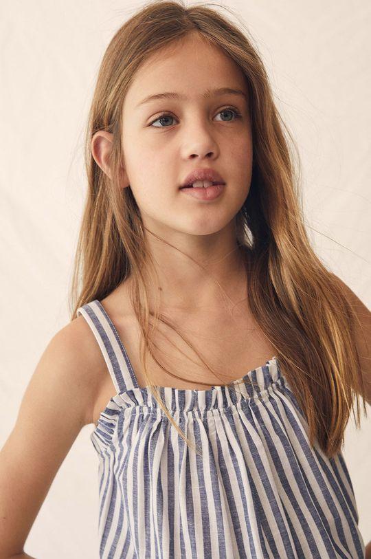 niebieski Mango Kids - Bluzka dziecięca Birgit 116-164 cm Dziewczęcy