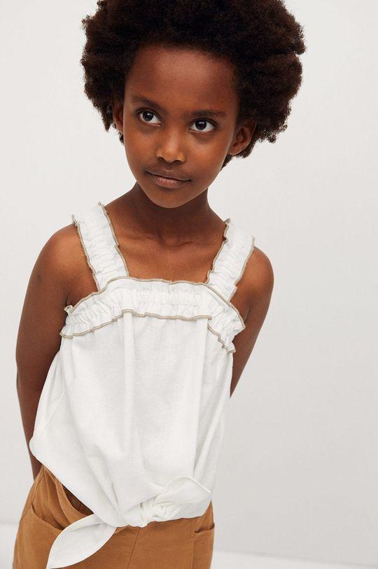 biela Mango Kids - Detská blúzka Laia 110-164 cm Dievčenský