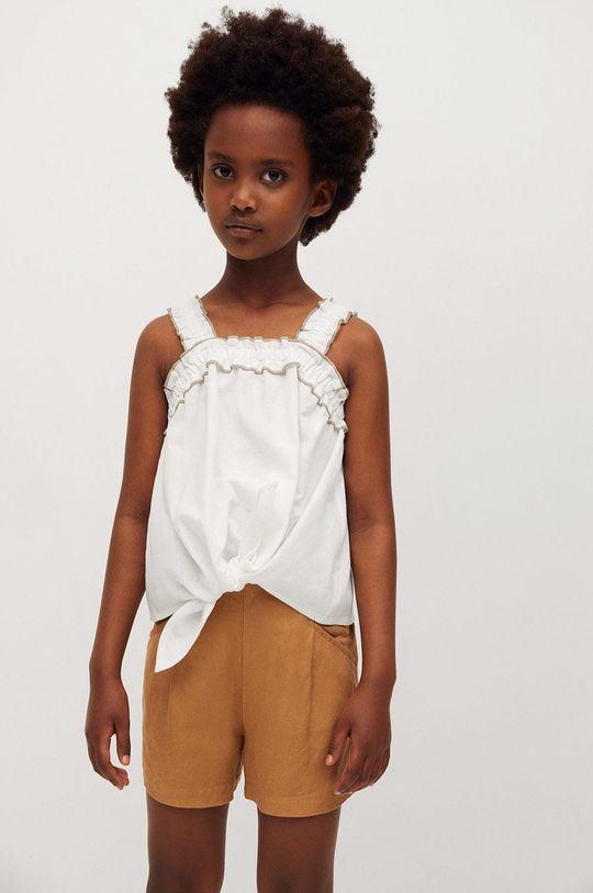 Mango Kids - Detská blúzka Laia 110-164 cm biela