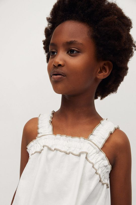 Mango Kids - Detská blúzka Laia 110-164 cm  88% Bavlna, 12% Ľan