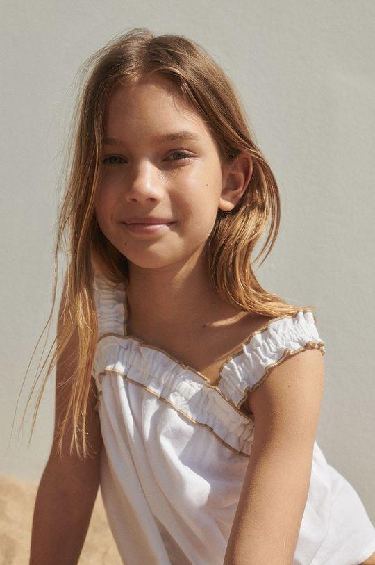 biela Mango Kids - Detská blúzka Laia 110-164 cm