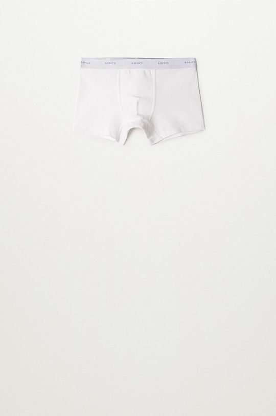 Mango Kids - Dětské boxerky SOLID8B (3-PACK) bílá