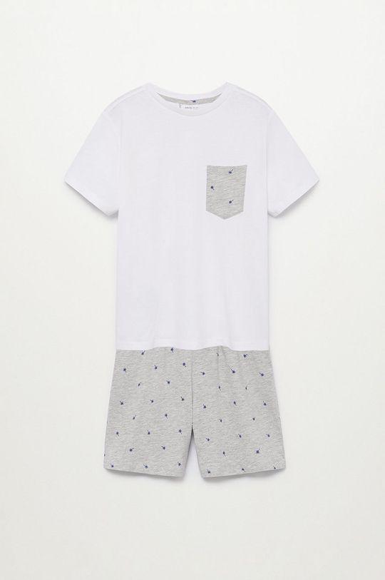 biały Mango Kids - Piżama dziecięca RENE Chłopięcy