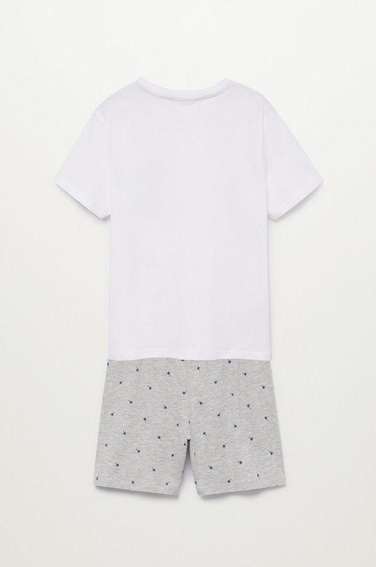 Mango Kids - Piżama dziecięca RENE biały