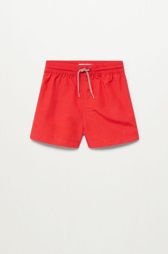 červená Mango Kids - Plavkové šortky Luisb 86-104 cm Chlapecký