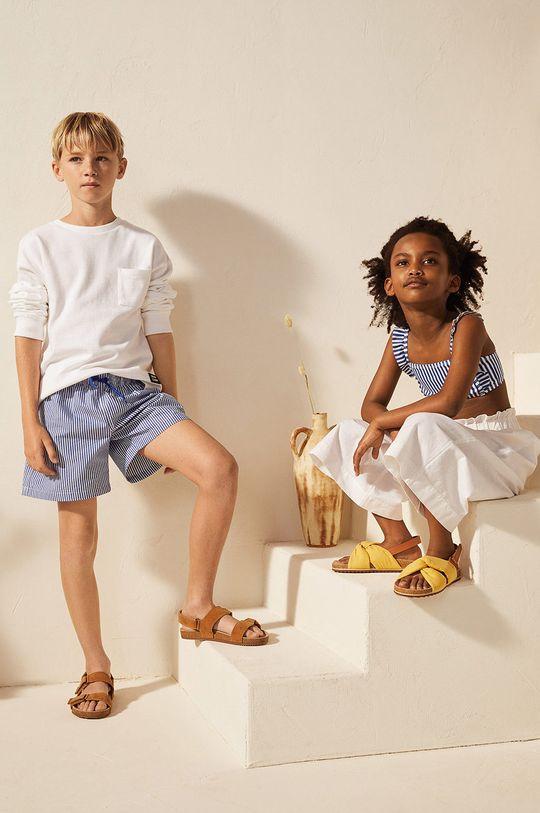 Mango Kids - Detské plavkové šortky Quique 116-164 cm modrá