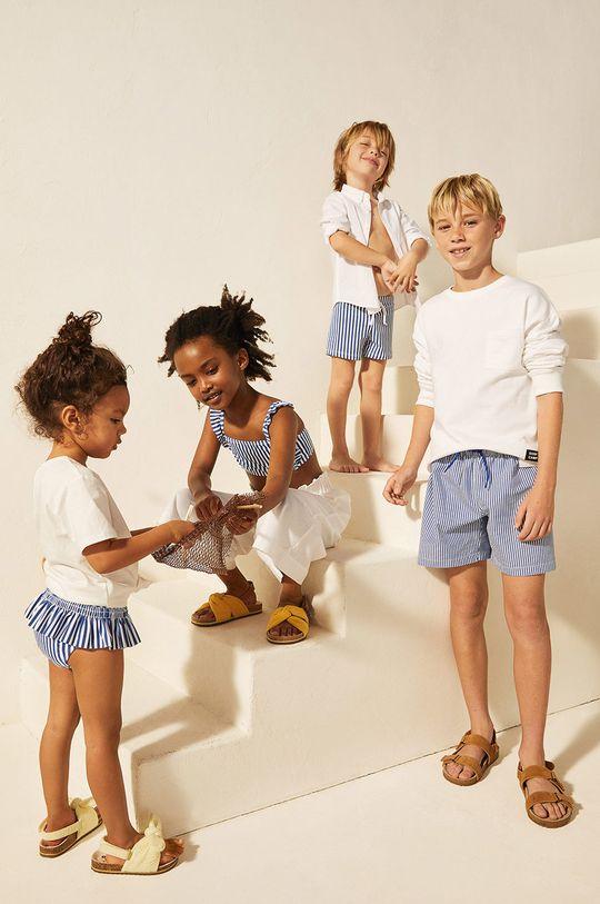 Mango Kids - Detské plavkové šortky Quique 116-164 cm  Podšívka: 100% Polyester Základná látka: 75% Bavlna, 25% Polyester