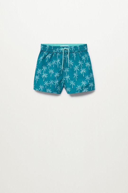 zielony Mango Kids - Szorty kąpielowe dziecięce Palmerab 86-104 cm Chłopięcy