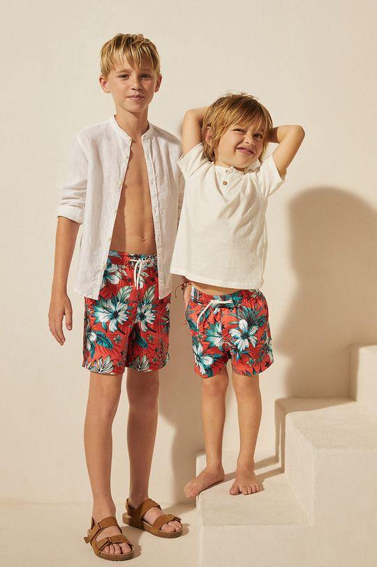 Mango Kids - Szorty kąpielowe dziecięce Lukas 116-164 cm czerwony