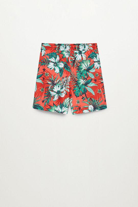 czerwony Mango Kids - Szorty kąpielowe dziecięce Lukas 116-164 cm