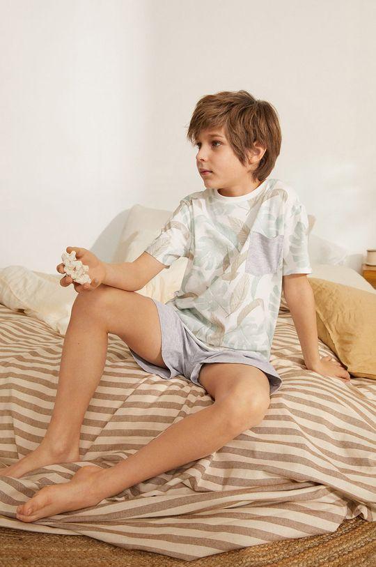 biały Mango Kids - Piżama dziecięca Manuel 116-164 cm Chłopięcy