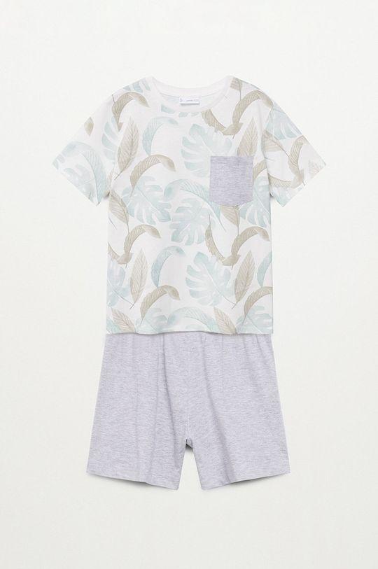 Mango Kids - Piżama dziecięca Manuel 116-164 cm biały
