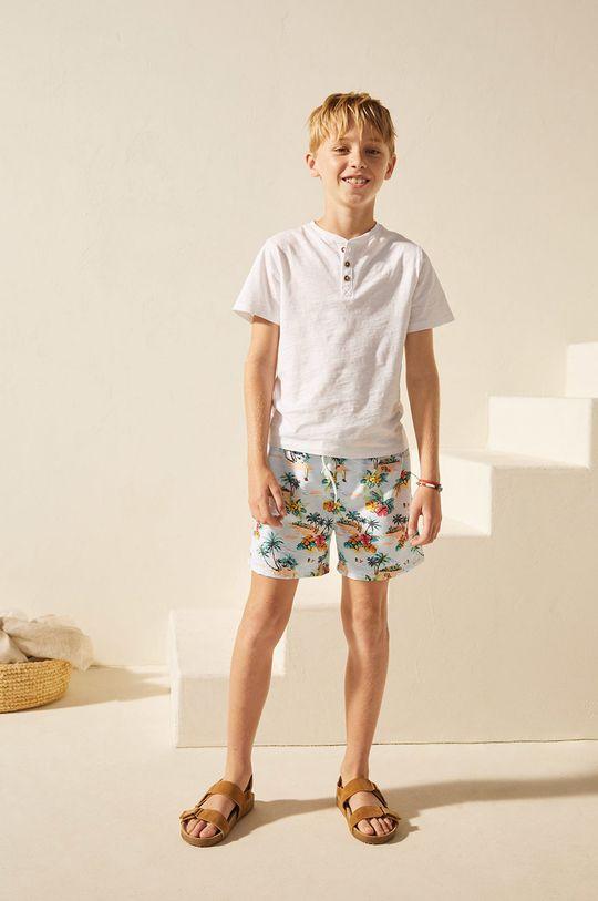 blady niebieski Mango Kids - Szorty kąpielowe dziecięce Jorge 116-164 cm Chłopięcy