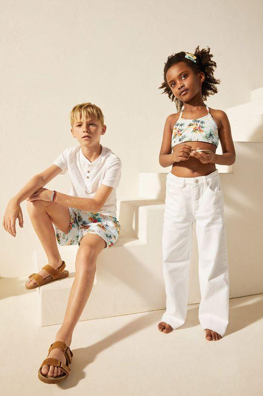Mango Kids - Szorty kąpielowe dziecięce Jorge 116-164 cm blady niebieski
