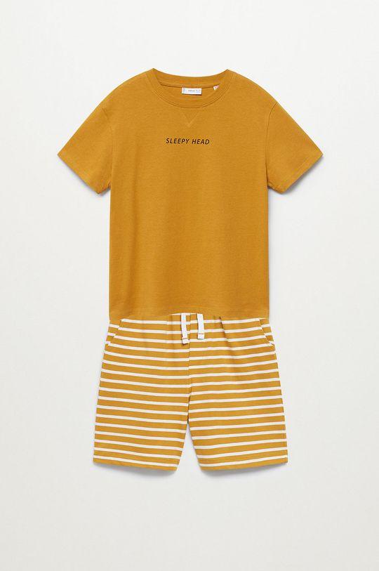 żółty Mango Kids - Piżama dziecięca Sleepy-I 116-164 cm Chłopięcy